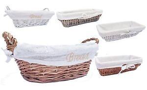 Full Wicker Strong Bread Fruit Wicker Storage Basket Xmas Hamper Basket Gift