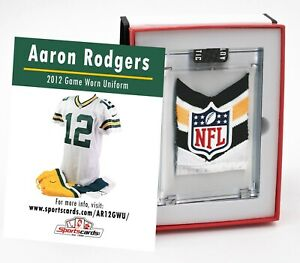 Aaron Rodgers 2012 Green Bay Packers Game Worn Jersey Mystery Swatch Box
