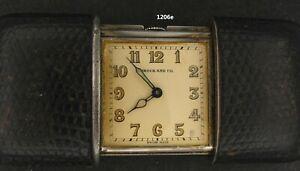 1206, Vintage Movado Purse watch Ermeto,  Sterling & Sting Ray sliding case.