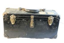 Antique/Vtg Bell Systems Stamped Hard Case Lineman Toolbox Progressive Fibre Ny