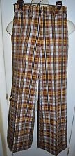 Multi-Color Plaid Wide Leg Pants 28 x 32 Hipster Punk Rocker Unisex Vintage