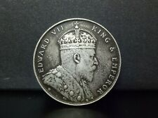 1dollar king edward vii silver coin--year 1907h  --vfine condition
