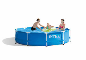 """Intex 28200EH 10' x 30"""" Above Ground Round Swimming Pool (Pump Not Included)"""