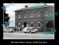 OLD POSTCARD SIZE PHOTO OF THE SALE POLICE STATION c1960s VICTORIA