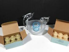 Partylite Votive Candle Holder Dolphins 12 Candles