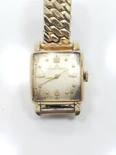 Vintage Antique 14k Yellow Gold Filled Eterna Matic Mens Wrist Watch