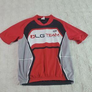 Louis Garneau Youth Sz 10  Cycling Jersey LG Team back pockets red black