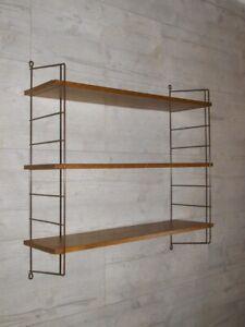 MID CENTURY STRING REGAL, 2 Leitern, 3 Böden, REGALSYSTEM 50/60er Jahre Vintage