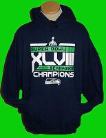 Seattle Seahawks Hoodie ADULT Hooded Sweatshirt Super Bowl XLVIII Champions