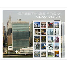 2015 ~ UNITED NATIONS PERSONALIZED SHEET GREETINGS FROM NEW YORK