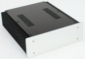 WA92 Full Aluminum Amplifier Enclosure Chassis Box With Heatsink For Audio AMP