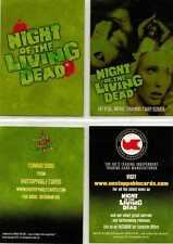 Night of the Living Dead Lot of Two Promo Trading Cards from Unstoppable Cards