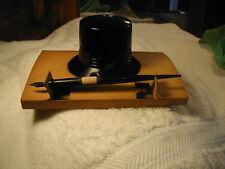 Office Vintage Skrip Black Molded Plastic Ink Well Stylus Retro MCM