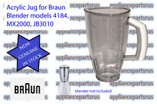 Braun 4184 Blender Acrylic Jug Part BR64184622 7322310454 - NEW GENUINE IN STOCK