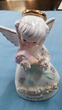 Napco Japan May Birthday Angel Vintage 1950s Figurine Springtime Bouquet #A1365