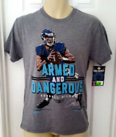 Russell Wilson T Shirt Small or Medium Tee Armed and Dangerous Seattle Seahawks