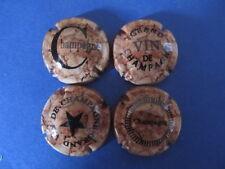 """lot de 4 capsules de champagne génériques """"bouchons de liege"""" n°981 à 981c"""