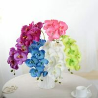 1Pcs Artificial Silk Orchid Phalaenopsis Fake Flower Wedding Home Garden Decor