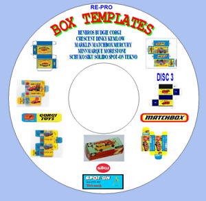 DIE CAST TOYS BOX TEMPLATES DINKY BENBROS MATCHBOX SIKU SPOT ON TEKNO.DISC 3