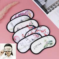 Masque De Sommeil De Style Chinois Avec Des Fleurs Et Des Oiseaux FE