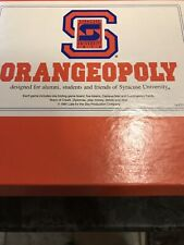 VINTAGE 1991 VERSION ORANGEOPOLY Syracuse University Themed Monopoly Game RARE