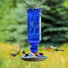 Perky-Pet 16 oz. Garden Antique Blue Glass Hummingbird Feeder Nectar Bird Supply