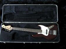 1998 Fender 5-String Jazz Bass Standard Bass Guitar MIM Midnight Wine w/HSC
