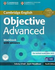 Cambridge OBJECTIVE ADVANCED Workbook with Answers & Audio CD Fourth Ed NEW BOOK