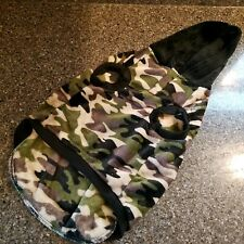 Top Paw Camo Camouflage Fleece Hooded Dog Coat Jacket Size L