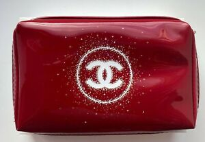 CHANEL COSMETIC/MAKEUP BAG POUCH CLUTCH RED HOLIDAY 2018 VIP GIFT