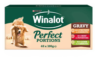 40 Pouch Winalot Perfect Portions Meat in Gravy Dog FoodMega Pack