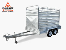 10x6 Tandem Trailer Cattle Crate 3.5Ton ATM HeavyDuty Hot Dip Gal Brisbane Qld