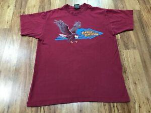 LARGE - Vtg 1991 Harley Davidson Motorcycles Eagle Single Stitch 90s T-shirt USA