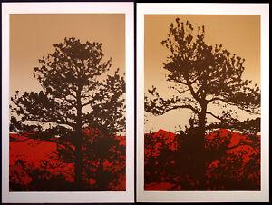 "Jim Boutwell ""Ponderosa I & II"" Diptych 2 Hand Signed Art Serigraphs, Make Offer"