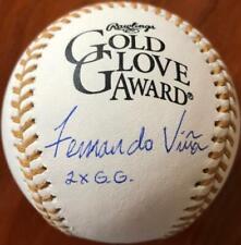 Fernando Vina Autographed Rawlings Official Gold Glove Baseball 2 X G.G.