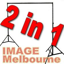 2 in 1  METAL backdrop light stand 2.75 x 3m background for paper muslin vinyl