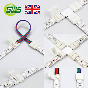 5 Pcs 2 Pin/4 Pin S L T X Shape Connector Wire for COB/3528/5050 LED Strip Light