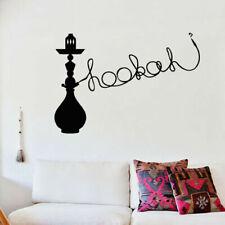 Wall Decal Sticker Hookah Hooka Shisha Lounge Relax Inscription Bar Hause M1568