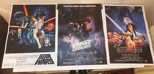 Star Wars 3 no A3 ORIGINAL trilogy high quality posters new hope ,empire ,jedi