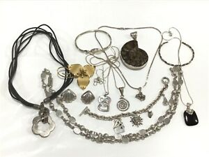 Lot of Sterling Silver Jewelry Some Stones 270 Grams Total Weight 12 Items