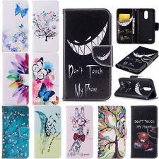 Flip Painted Wallet Leather Stand Case Cover For LG G6 Q6 Q8 V30 K4 K8 K10 2017