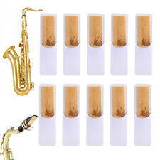 10X Saxophon Blätter 2.5 Eb Alto Saxophone Reeds Stärke 2.5 Sax Blättchen Übung