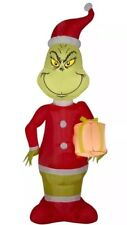 The Grinch in Santa Suit & Gift 5.5' Dr Seuss LED Christmas Airblown Inflatable