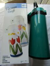 CARAFE VACUUM JUG / FLASK PUSH button to pour / boxed / light use
