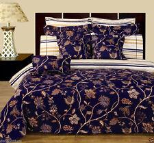 11 Peice Ultra Soft Lilian Duvet Cover & Sheet Set Reversible Bed in a Bag Set