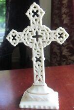 Lenox Ivory Pierced Standing Cross 8 1/4 Tall Euc
