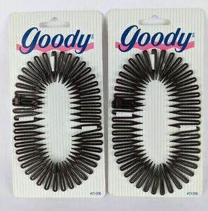 Lot of 2 - Goody Plastic Flexible Comb for Ponytail Headband Double Wrap Chignon