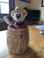 Mickey Mouse Vintage Barrel Cookie Jar