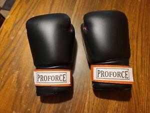 ProForce Black Leatherette Unisex Boxing/kickboxing, Cardio Gloves Orange Palm