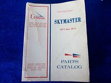 CESSNA Factory OEM 207 SkyMaster Parts Catalog Manual - 1973 - 1975 / #P524-12